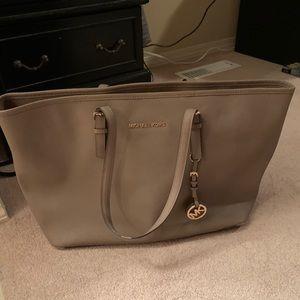 Authentic taupe Michael Kors shoulder bag